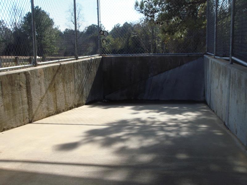 Outdoor concrete run
